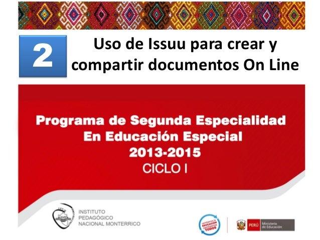 2  Uso de Issuu para crear y compartir documentos On Line