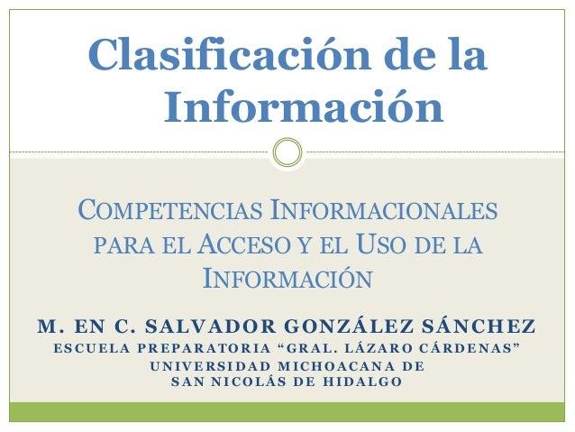 2 clasificación de la información
