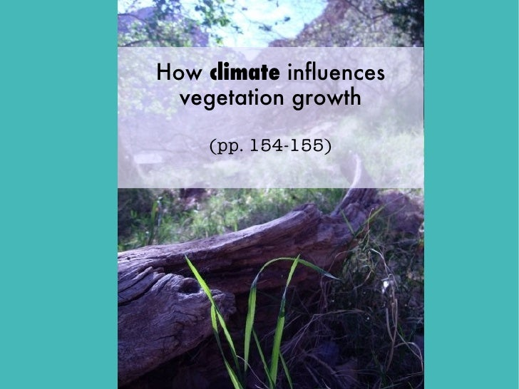 How climate influences  vegetation growth     (pp. 154-155)