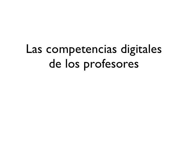 Competencias TICs docentes
