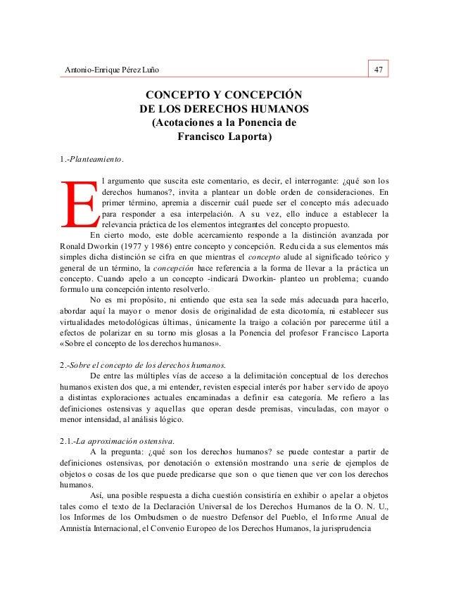 Antonio-Enrique Pérez Luño                                                              47                       CONCEPTO ...