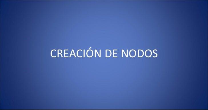 2 creacion nodos
