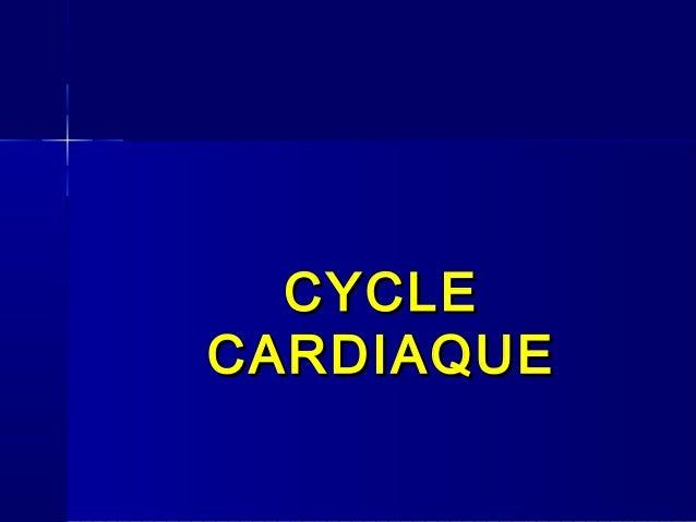 CYCLE CARDIAQUE