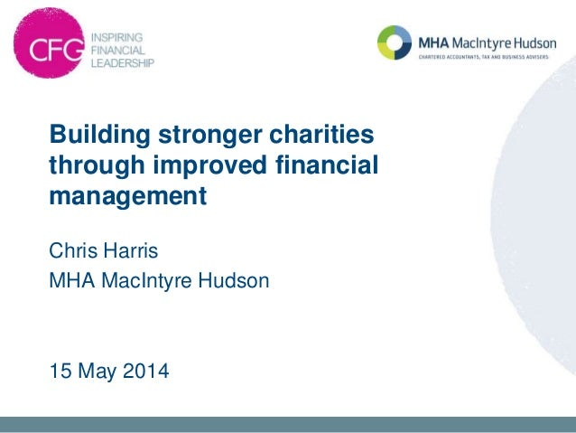 2D – BUILDING STRONGER CHARITIES THROUGH IMPROVED FINANCIAL MANAGEMENT