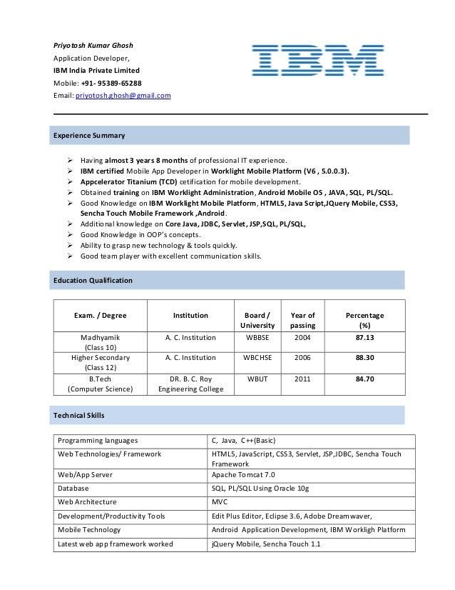priyotosh resume