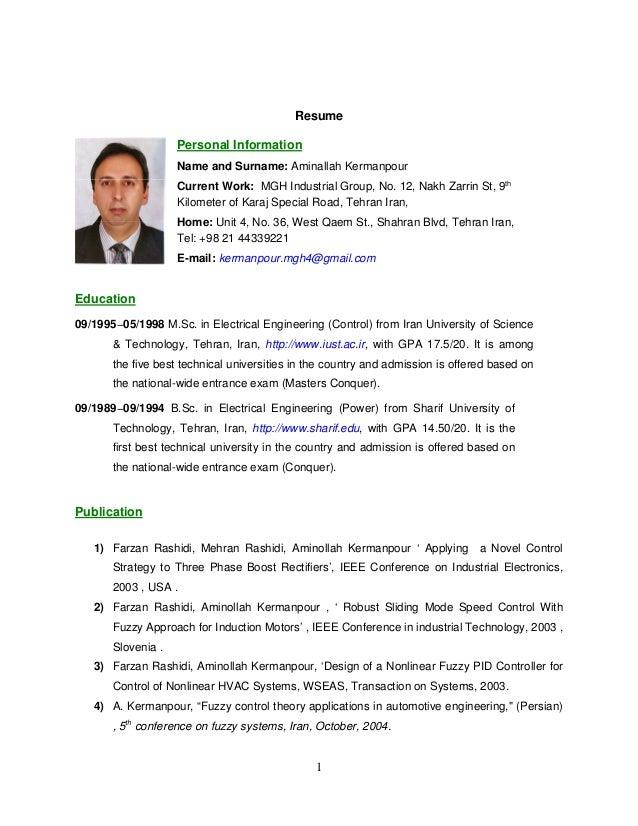 kermanpour english resume