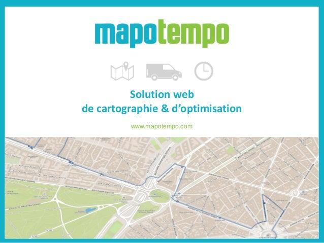 Solution web de cartographie & d'optimisation www.mapotempo.com