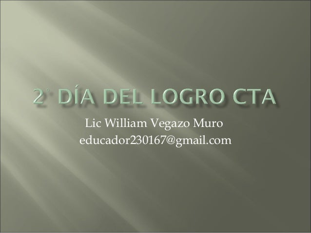 Lic William Vegazo Muro educador230167@gmail.com