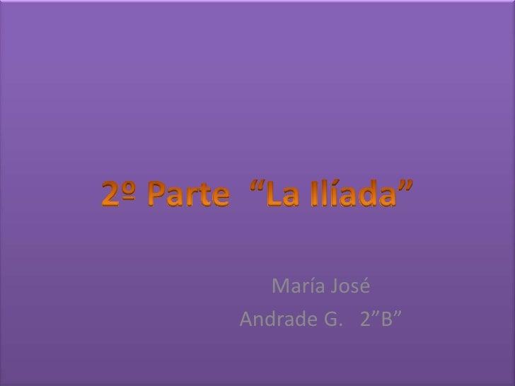 """María JoséAndrade G. 2""""B"""""""
