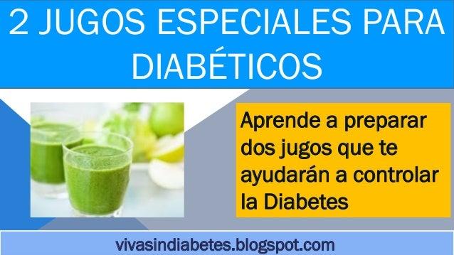 2 deliciosos jugos para diabeticos