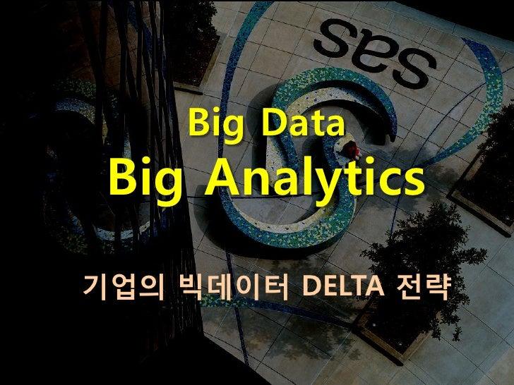 Big Data Big Analytics기업의 빅데이터 DELTA 전략