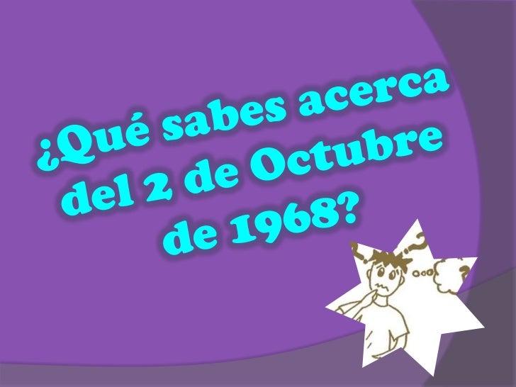 2 de octubre matanza de tlatelolco