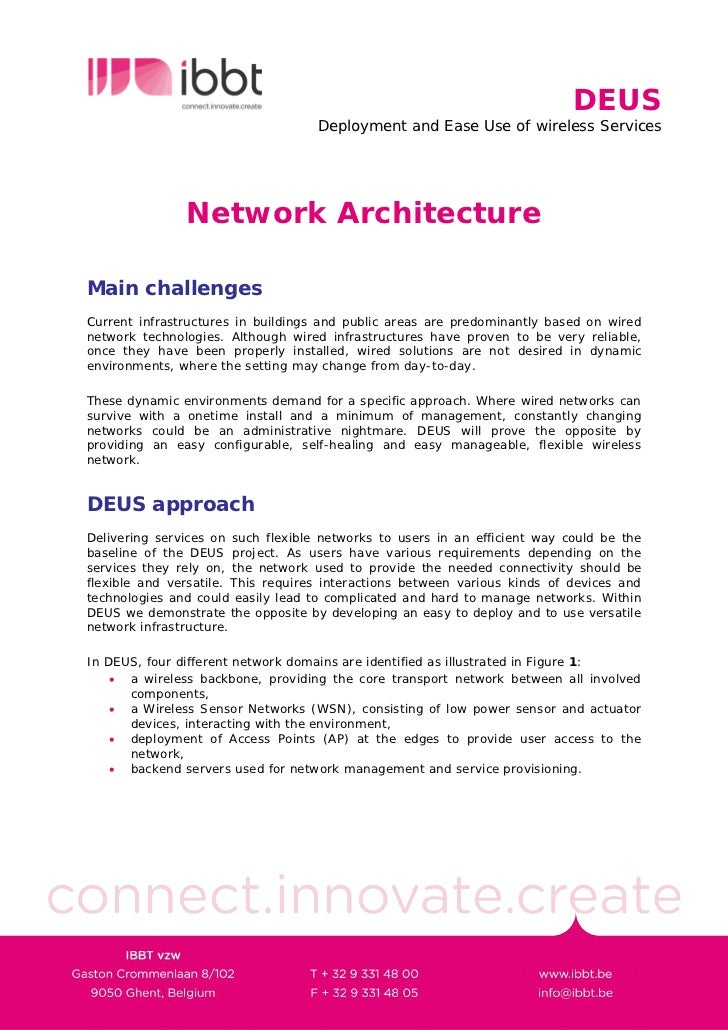 DEUS                                     Deployment and Ease Use of wireless Services                    Network Architect...