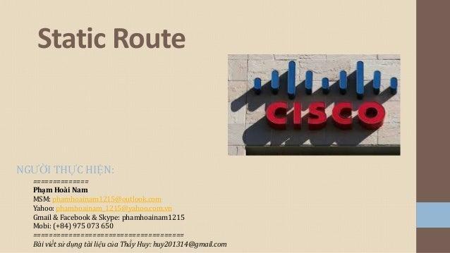 2 Định tuyến static route
