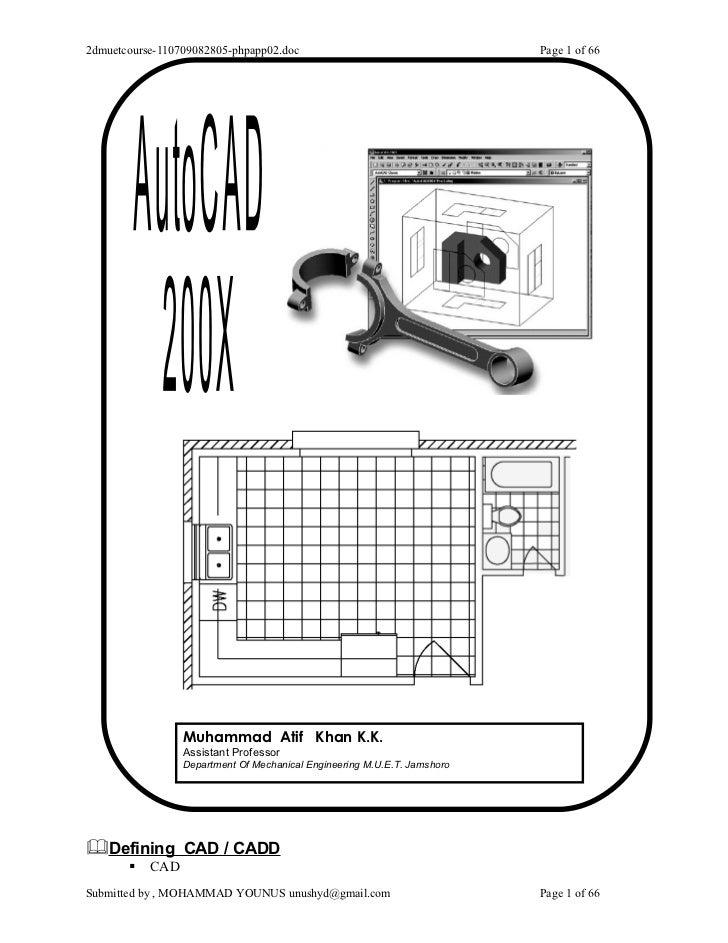Autocade 2D complete course