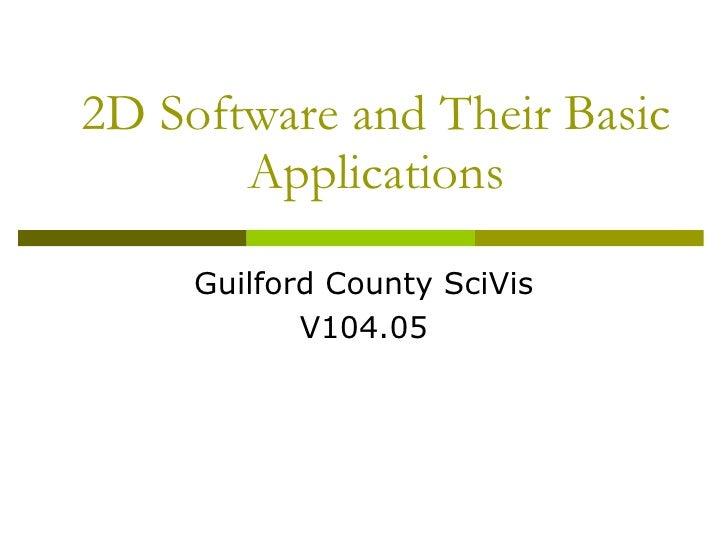 2 d software applications