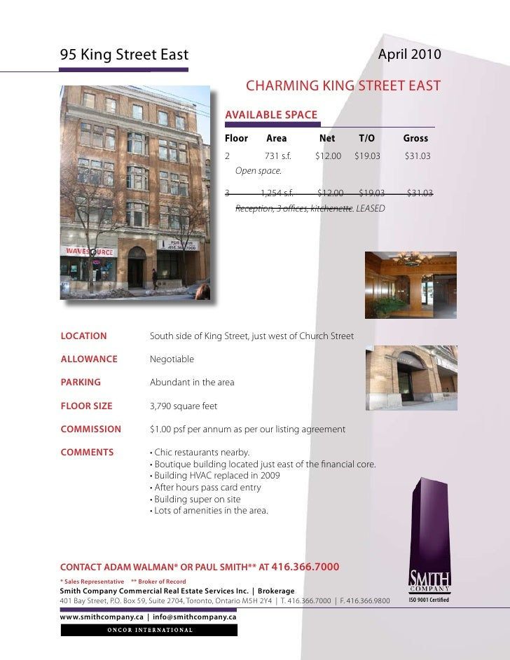 2 dte 2 may Toronto Commercial real estate