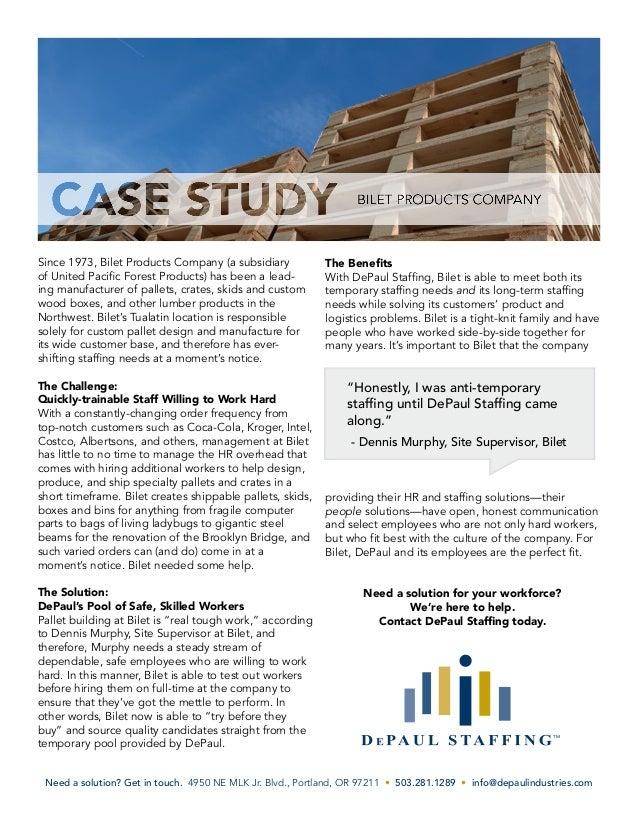 Sampling case study