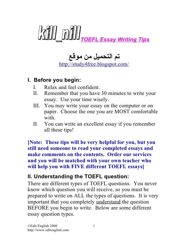 Language arts writing rules for essays