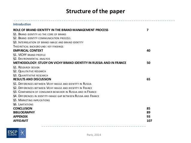 What is the structure for a masters dissertation