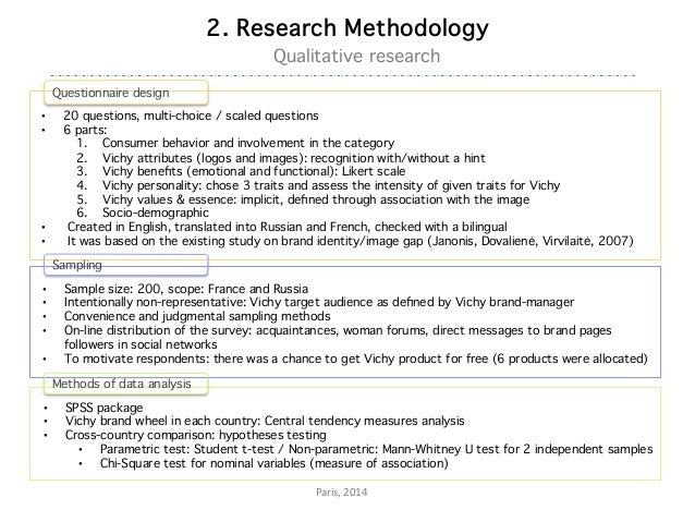 Master thesis survey methodology