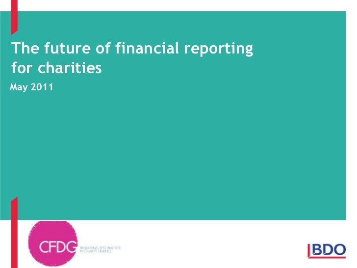 The Future of Financial Reporting for Charities, Don Bawtree, BDO