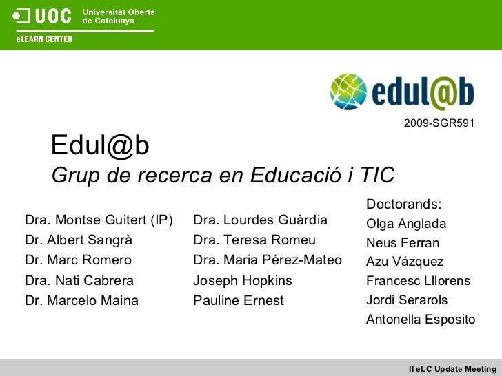 Edul@b Grup de recerca en Educació i TIC
