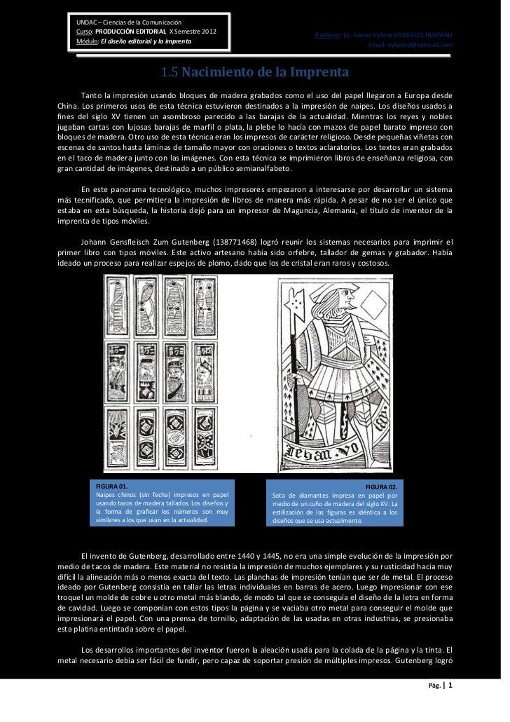 UNDAC – Ciencias de la Comunicación     Curso: PRODUCCIÓN EDITORIAL X Semestre 2012                             Profesor: ...