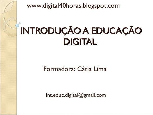 Introdução a Educação Digital - 1ª unidade