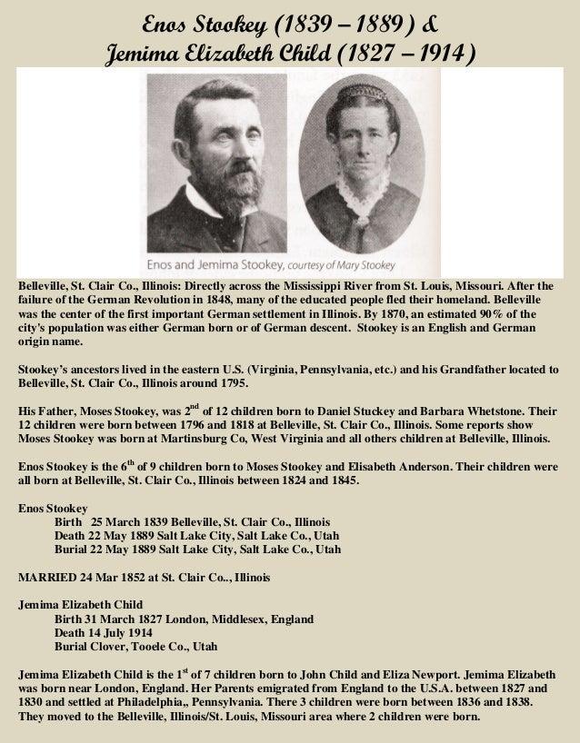 Enos Stookey & Jemima Elizabeth Child