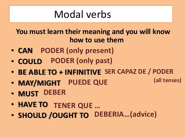 Deber verb meaning to learn