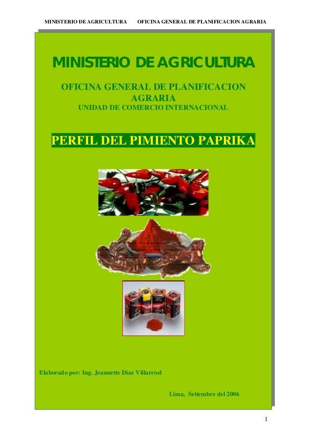 MINISTERIO DE AGRICULTURA         OFICINA GENERAL DE PLANIFICACION AGRARIA                                    ;,l,.,kmfgdk...