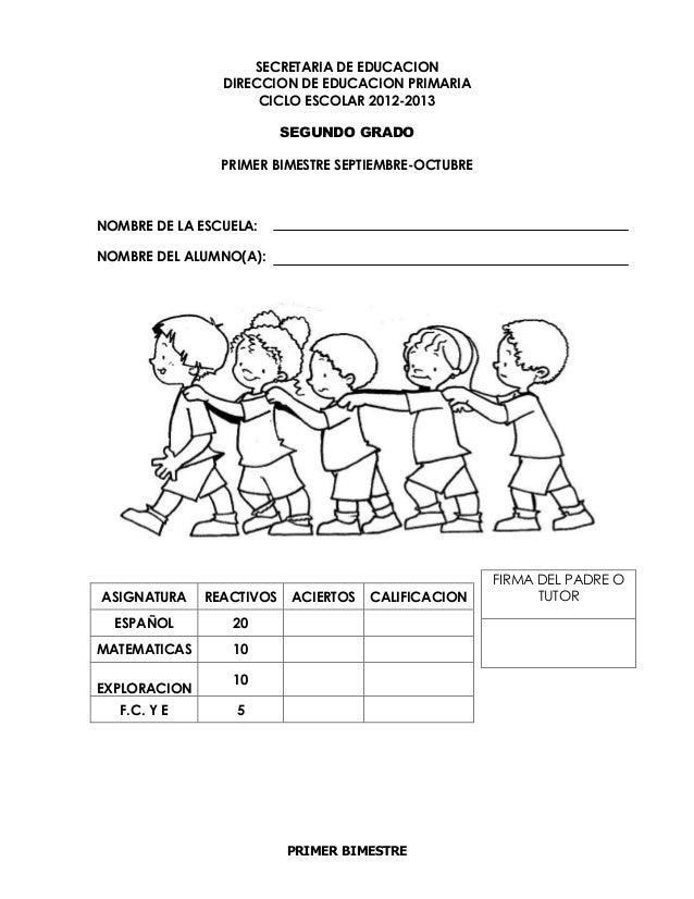PRIMER BIMESTRESECRETARIA DE EDUCACIONDIRECCION DE EDUCACION ...