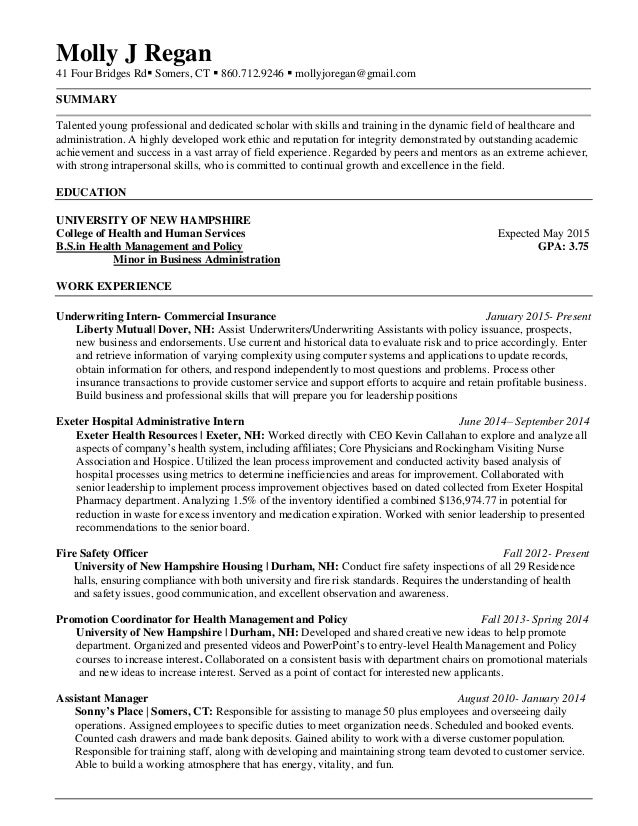 Health information management resume examples