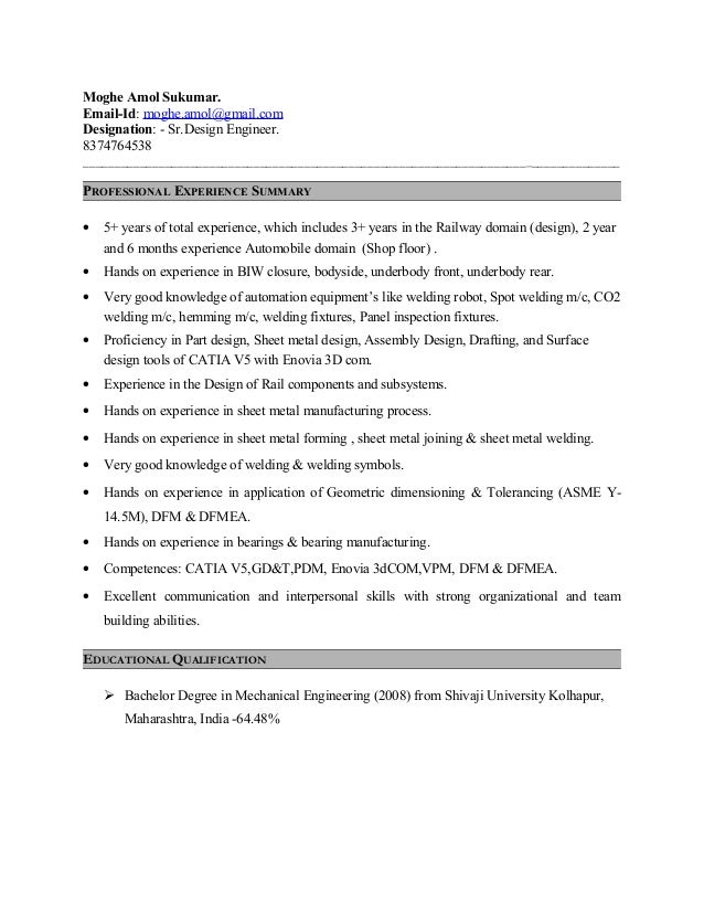 Doc engineer manufacturing mount resume surface