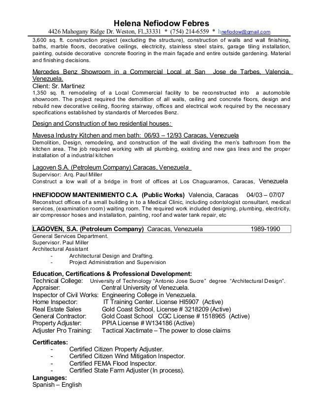 resume helena nefiodow actualizado inspections con hgr