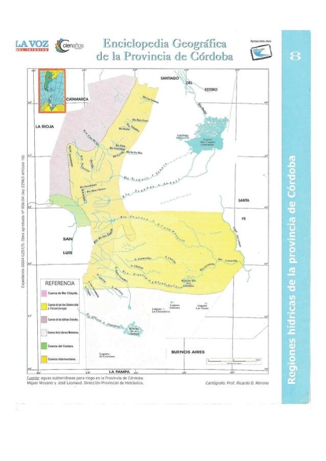 Regiones hidricas de la provincia de Córdoba