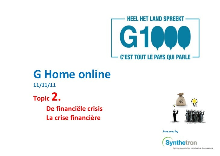 G-Home Report: Redistribution in Financial Crisis