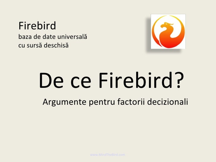 2 Firebird Technical Ro