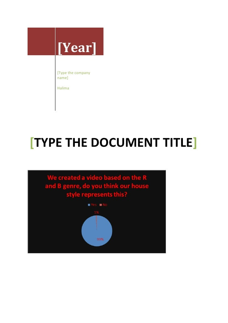 [Year]                [Type the company                name]                Halima[TYPE THE DOCUMENT TITLE][Type the abstr...