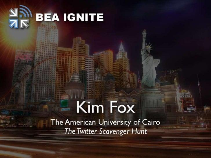 BEA Ignite: Kim Fox