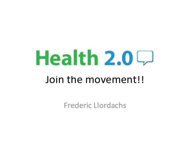Join the movement!! Frederic Llordachs