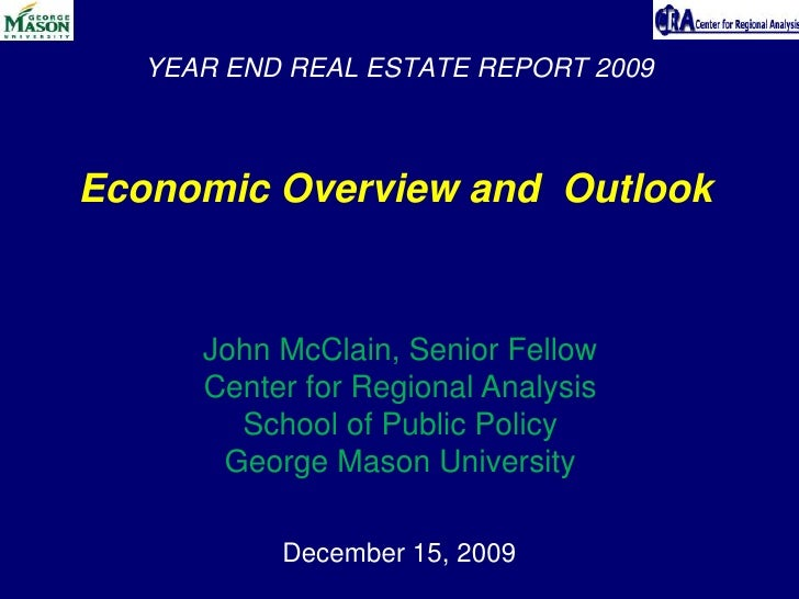 Annual Press Conference - George Mason University's Center for Regional Analysis Presentation