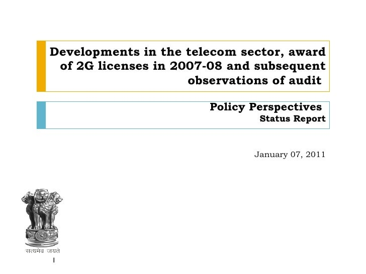 Allocation Of 2G Spectrum And Telecom Policy