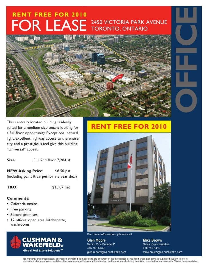OFFICE    RENT FREE FOR 2010    FORleaSe                                                                 2450ViCtORiaPa...