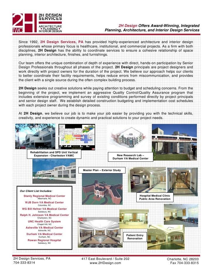 2 H Design Services Proj Shts 1