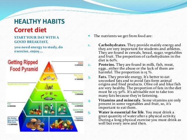 healthy and unhealthy habits essay