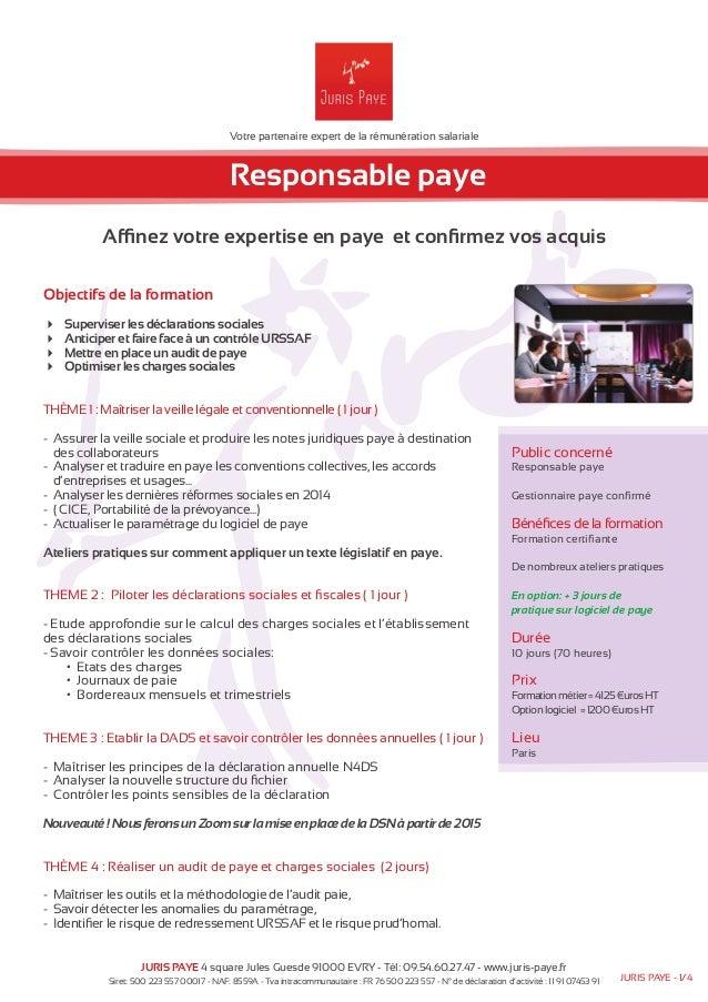 Votre partenaire expert de la rémunération salariale  Responsable paye  Affinez votre expertise en paye et confirmez vos a...