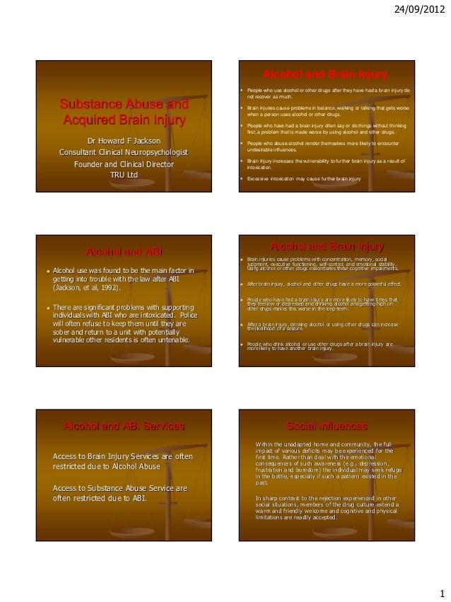 Howard Jackson - substance abuse abi