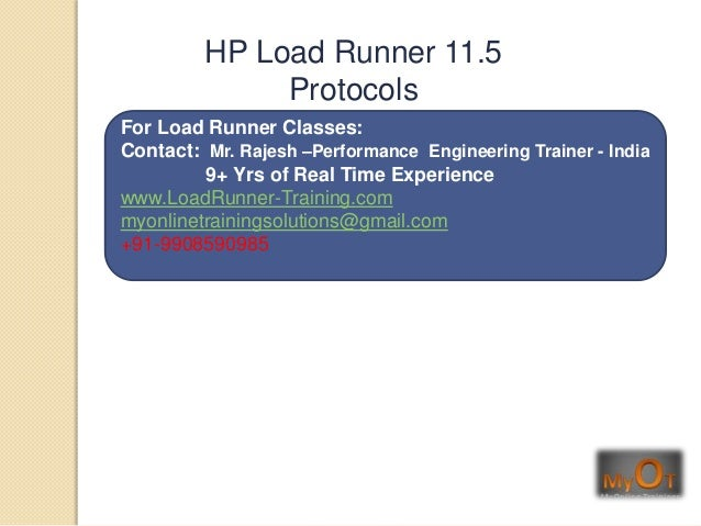 HP Load Runner 11.5 Vusers protocols